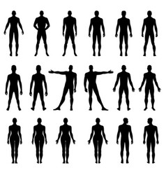 Fashion man woman figure set vector