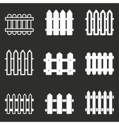 Fence icon set vector