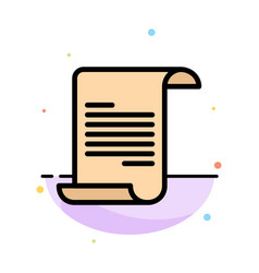 File text greece abstract flat color icon template vector