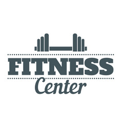 Fitness center image vector