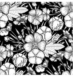graphic linen and cotton pattern vector image