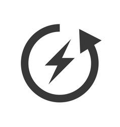 Green bicycle icon save environmental concept vector
