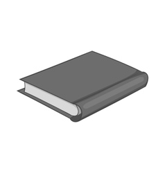 Grey book icon black monochrome style vector image