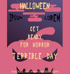Halloween card invitation minimal and flat vector