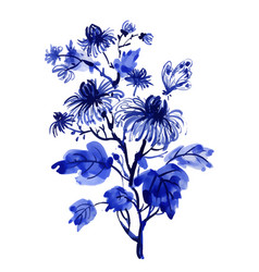 Hand drawn beautiful wildflowers isolated on white vector