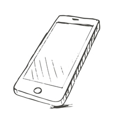 Hand drawn mobile vector image