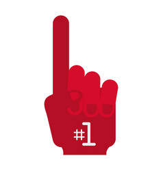 hand fan american football vector image