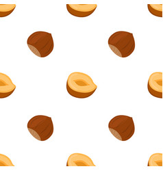 hazelnut seamless pattern natural nut healthy vector image