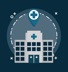hospital building design vector image