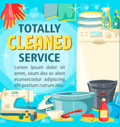 house cleaning laundry and home sewing service vector image