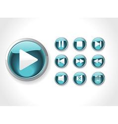 Icons set media vector image