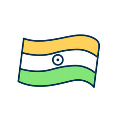 Indian tricolor flag rgb color icon vector