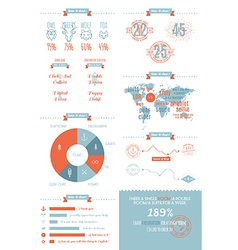 Infographics set in the style of a hipster vector