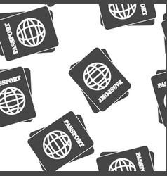 International passport seamless pattern on a vector