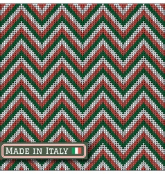 knitting Italy colors pattern sweater battlement vector image