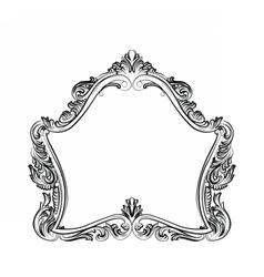 Luxury Baroque Rococo Mirror frame set vector image