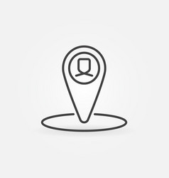 Man geo tag concept icon in thin line style vector