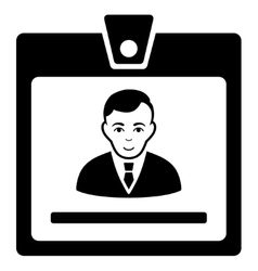 Manager Badge Flat Icon vector