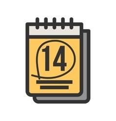 Marked calendar vector