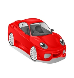 Merry small red car cartoon vector image vector image