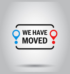 Move location icon in flat style pin gps on vector