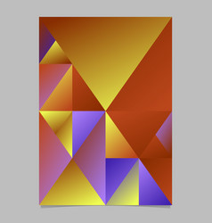 Multicolored abstract triangle mosaic flyer vector
