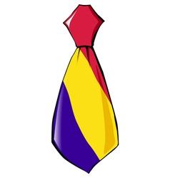 Necktie in national colours of Andorra vector