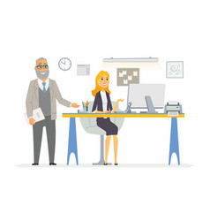 Office life - modern cartoon business vector