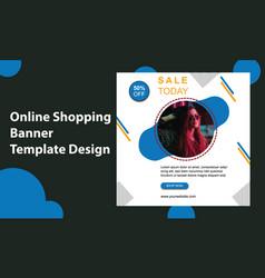 Online fashion shop big sale social media banner vector