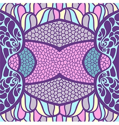 Original ornament psychedelic abstract t vector