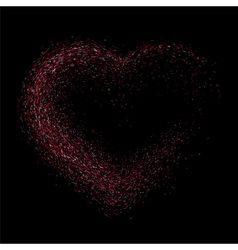 Pink glitter heart vector image