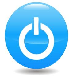 Power blue circle logo vector image