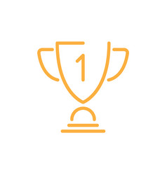 prize schematic icon orange vector image