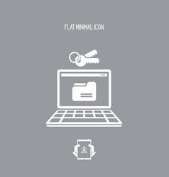 protected folder - flat minimal icon vector image