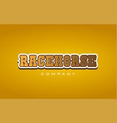 Racehorse race horse western style word text logo vector