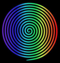 Rainbow round abstract vortex hypnotic spiral vector