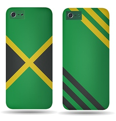 Rear covers smartphone with flags of Jamaica vector