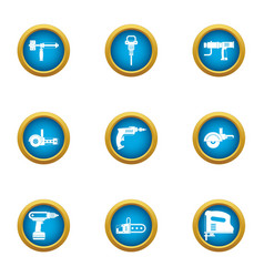 rough repair icons set flat style vector image