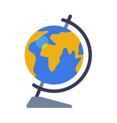 School globe geography lesson equipment flat vector