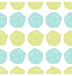 Seamless repeat pattern with polygonal shapes vector image