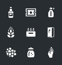 Set moonshine boiling icons vector