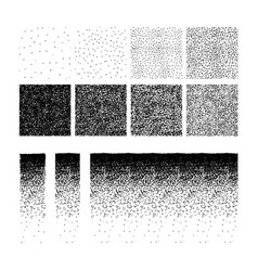 set of stipple pattern vector image