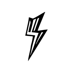 sign of lightning vector image