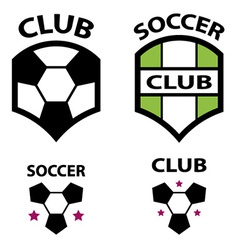 soccer club emblem ball vector image