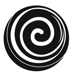 Spiral cake icon simple style vector