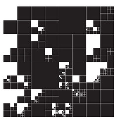 Subdivided squares grid system randomly sized vector