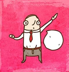 Talking Businessman Cartoon vector image