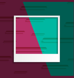 tech abstract background with photo frame vector image