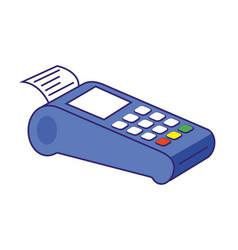 Technology work office dataphone isolated vector
