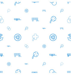 Three icons pattern seamless white background vector